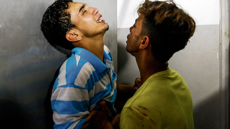 14 luglio 2018, Gaza, Al-Shifa Hospital Morgue, credit Anas Baba / Afp / Getty Image