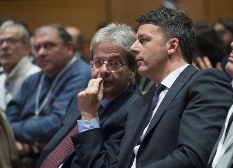 Matteo Renzi e Paolo Gentiloni