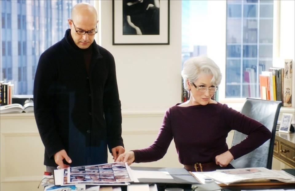 Meryl Streep e Stanley Tucci in una scena di «Il diavolo veste Prada» (2006)