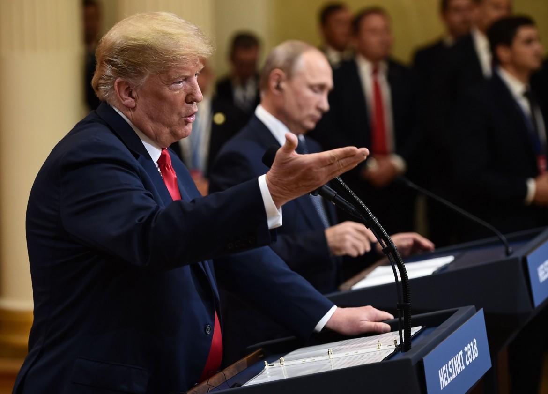 Il presidente Usa Trump con il russo Putin a Helsinki, lo scorso 16 luglio