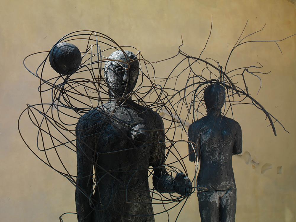 Un'opera di Mimmo Paladino
