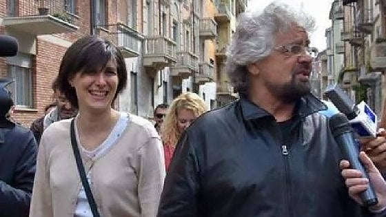 Chiara Appendino e Beppe Grillo