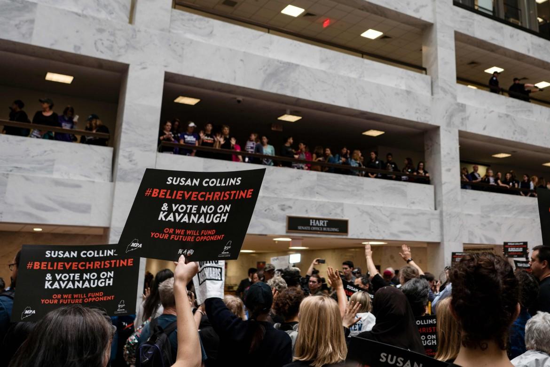 Ieri a Washington manifestazione contro Bree Kavanaugh e in solidarietà con le donne che lo accusano di molestie