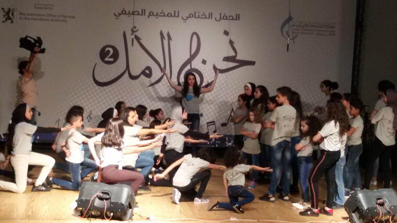 Il saggio di fine anno scolastico organizzato ad agosto dal Conservatorio «Edward Said» della Striscia di Gaza