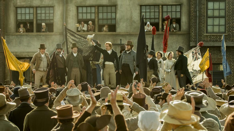Una scena di «Peterloo» di Mike Leigh