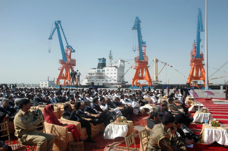 L'inaugurazione del nuovo porto di Gwadar in Pakistan nel 2007