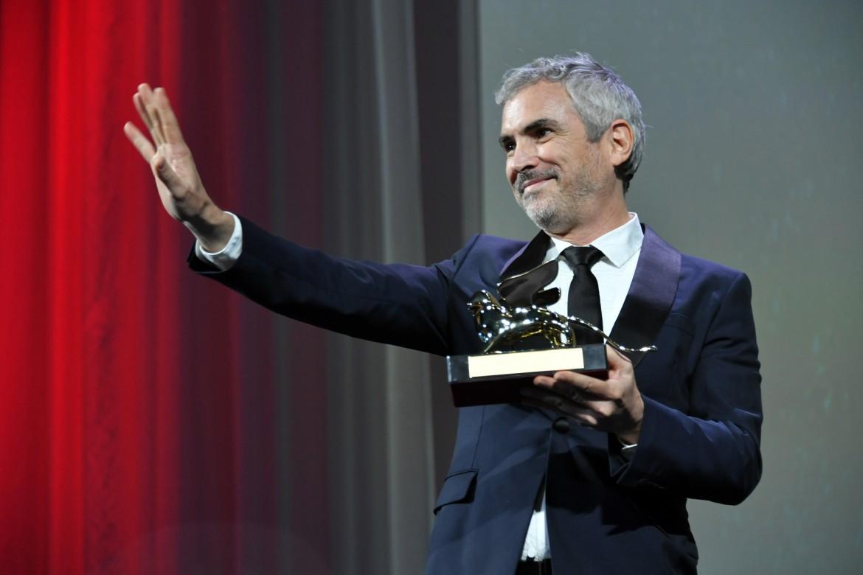 Alfonso Cuaron con il Leone d'oro