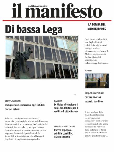 Edizione del 20092018