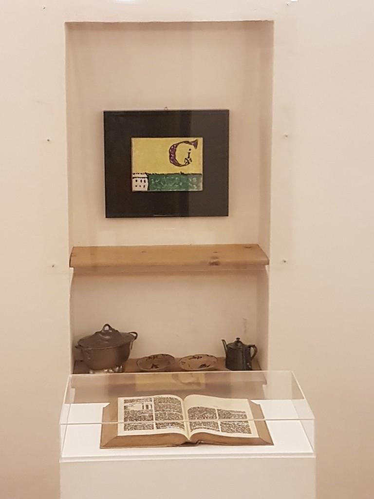 Un momento della mostra di Emilio Isgrò in Casa Licini a Monte Vidon Corrado
