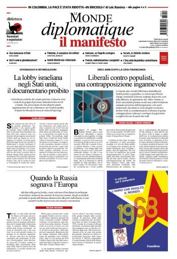 Le Monde diplomatique di settembre 2018