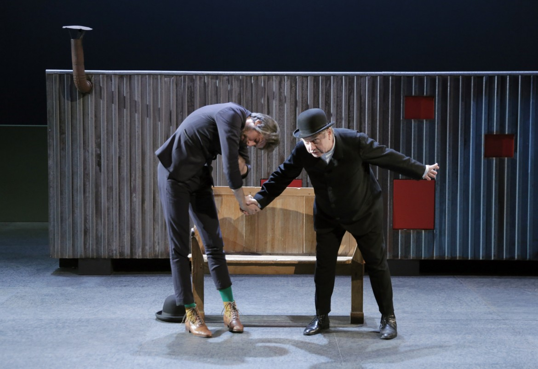 Bouvard et Pécuchet  di Gustave Flaubert, adattamento e messa in scena  di Jérôme Deschamps, 2016, Théâtre National Populaire, foto Pascal Victor / Armelle et Marc Enguerand