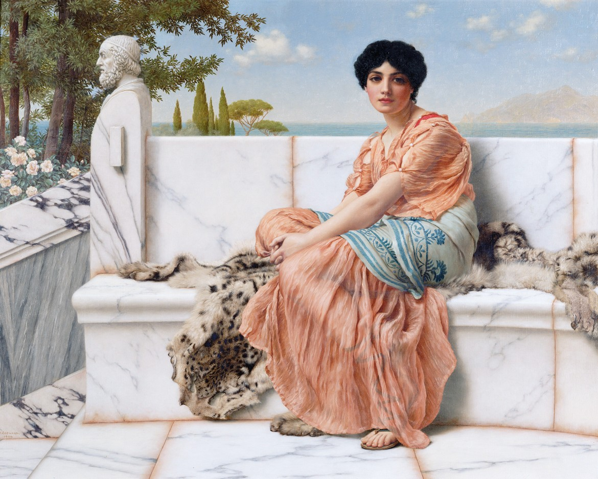 John William Godward, In the Days of Sappho, 1904, Los Angeles, Getty Museum