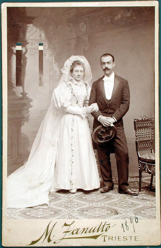 Italo Svevo  e Livia Veneziani  il giorno delle nozze,  30 luglio 1896