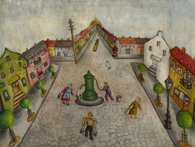 «Shtetl», un'opera di Chana Kowalska, artista ebreo-polacca uccisa ad Auschwitz nel 1941 a 34 anni