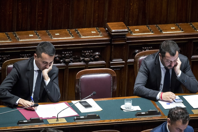 I vicepremier Luigi Di Maio e Matteo Salvini