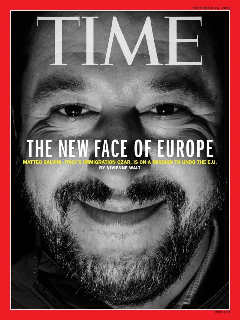 L'ultima copertina del Time dedicata a Salvini