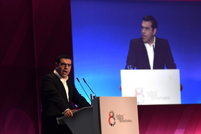 Alexis Tsipras ieri a Salonicco