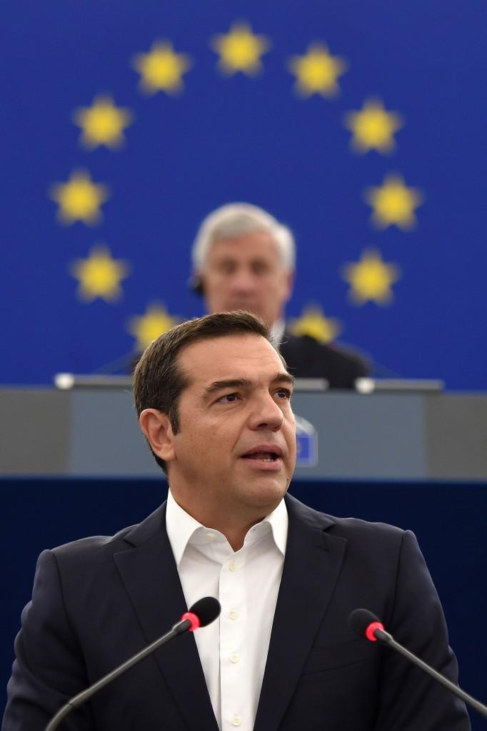 Alexis Tsipras a Strasburgo