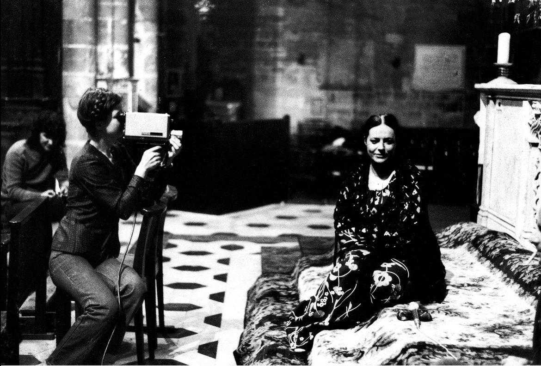 Sul set di Les prostituées de Lyon parlent (1975)