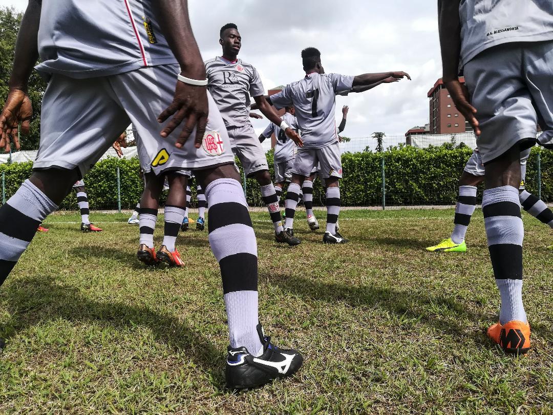 I calciatori della squadra milanese St Ambroeus