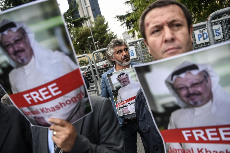 Manifestazione per la verità sul caso Khashoggi