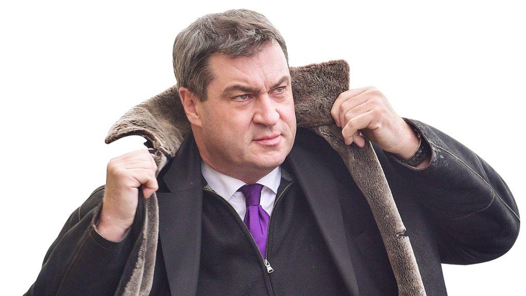 Il governatore Csu della Bavaria, Markus Söder