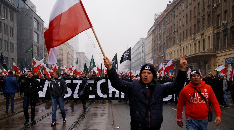 Una manifestazione dei nazionalisti polacchi
