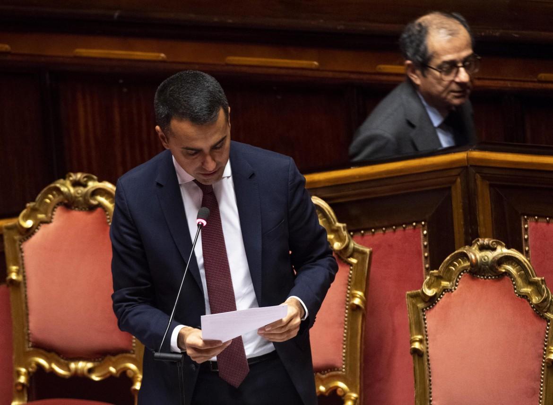 Il vicepremier Luigi Di Maio e il ministro dell'Economia Giovanni Tria
