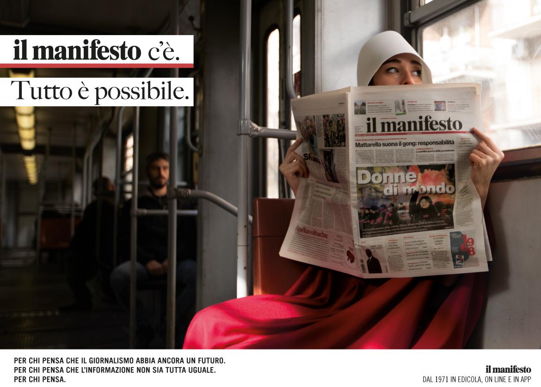 Il primo soggetto della campagna pubblicitaria 2018 de il manifesto