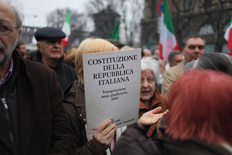 Manifestazione a Milano