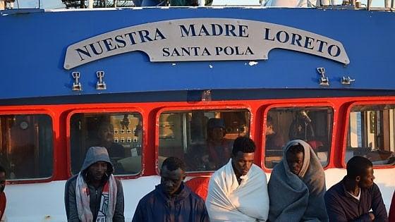 Un'immagine dal peschereccio Nuestra Madre Loreto