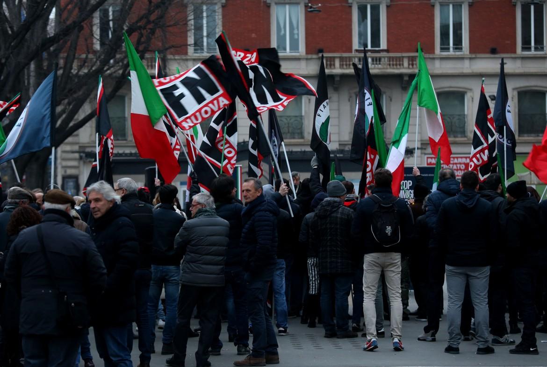 Una manifestazione fascista