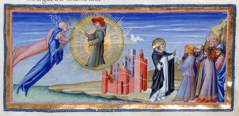 Giovanni  di Paolo (attribuito a), Dante e Beatrice (Par. XXII)