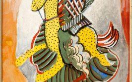 Serge Frat Gendarme disegno di costume per Les Mamelles de Tirsias di Apollinaire collezione privata dallantica collezione Serge Frat Parigi