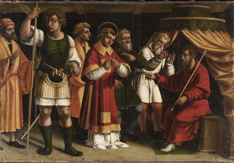Francesco De Tatti, Santo Stefano in giudizio, 1526 circa, Rancate, Pinacoteca cantonale Giovanni Züst