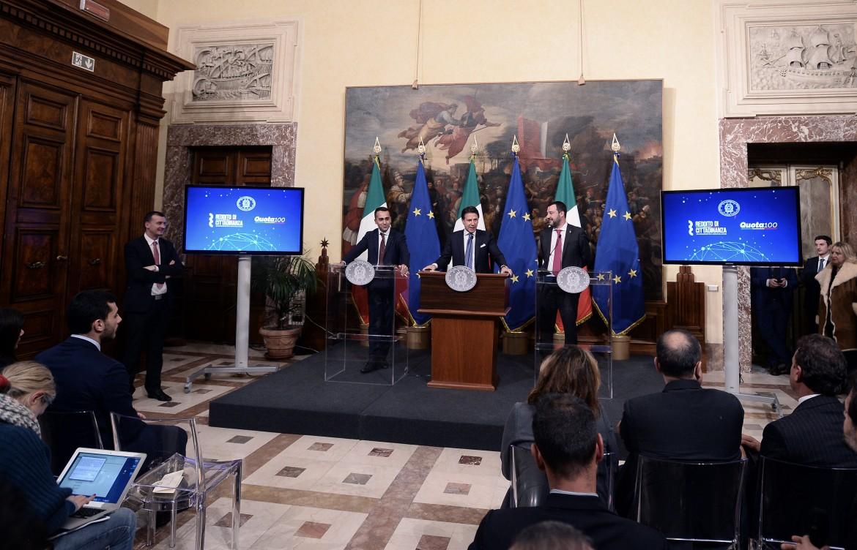 La conferenza stampa a Palazzo Chigi
