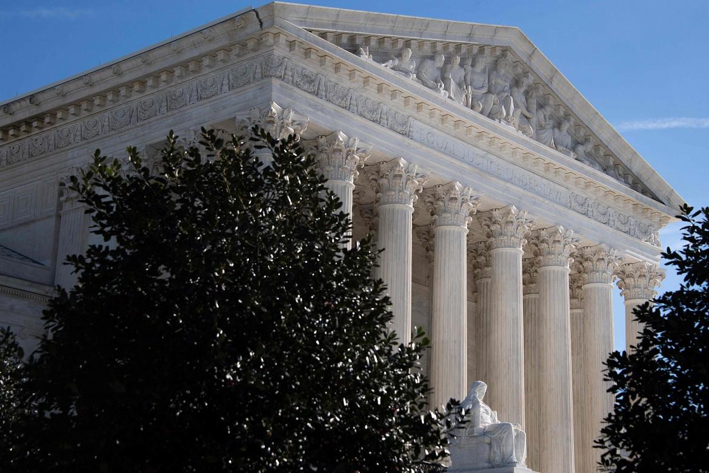 Il palazzo della Corte suprema a Washington