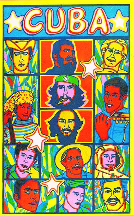 Poster in serigrafia di Roul Martinez 1969
