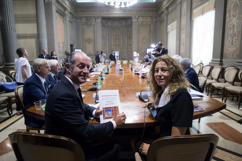 Luca Zaia e la ministra Erika Stefani