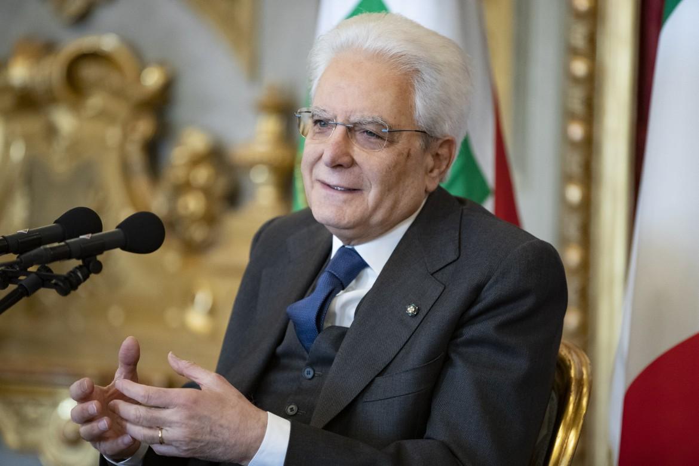Il presidente della Repubblica Sergio Mattarella