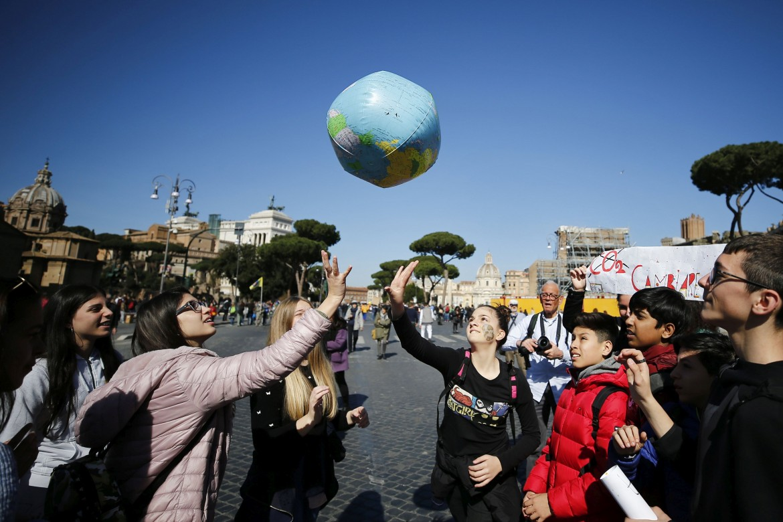 La manifestazione ieri a Roma