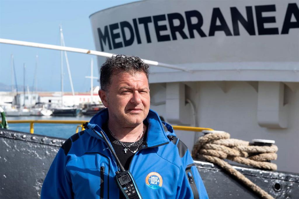 Il comandante di Mediterranea Pietro Marrone