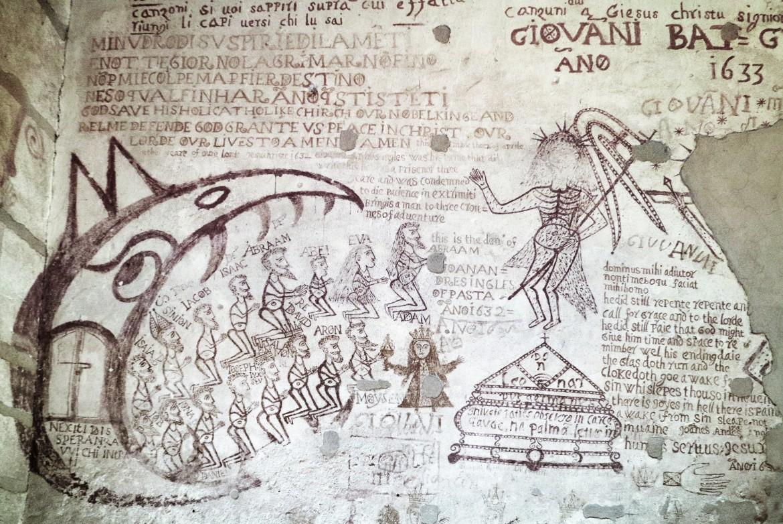 I graffiti di Palazzo Chiaromonte che, insieme ad altri, possono essere visionati nel volume