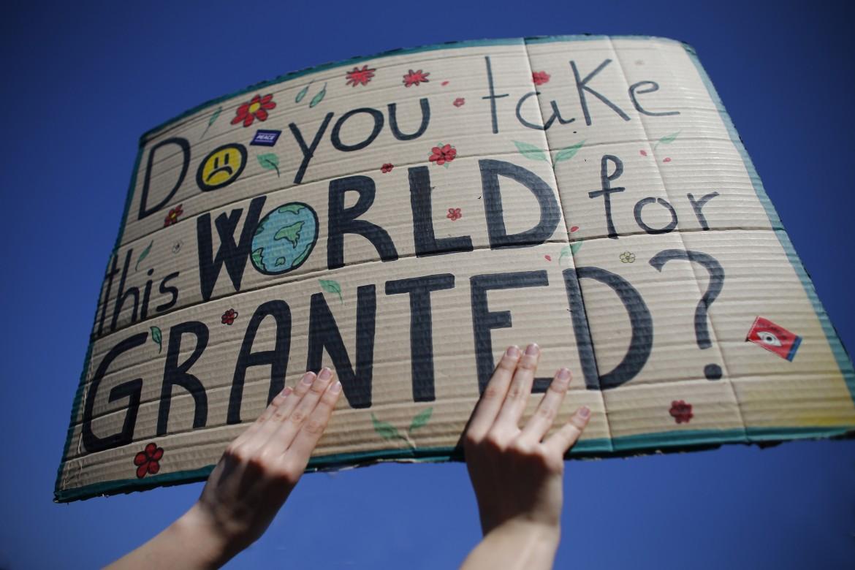 Protesta in difesa dell'ambiente