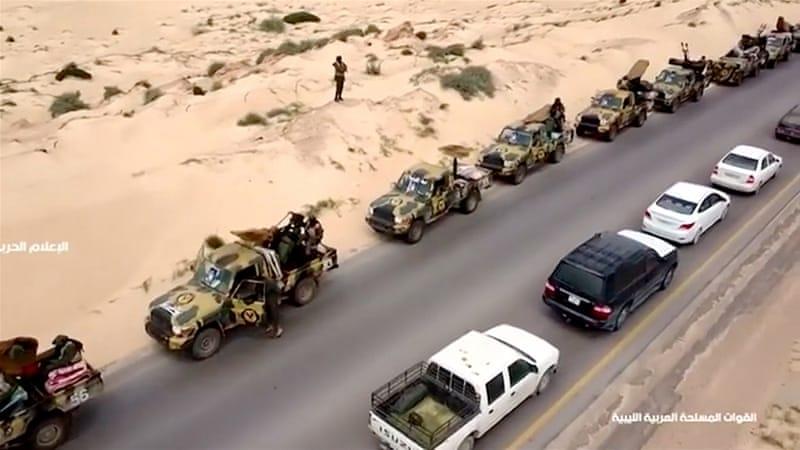 Il convoglio militare di Haftar verso Tripoli