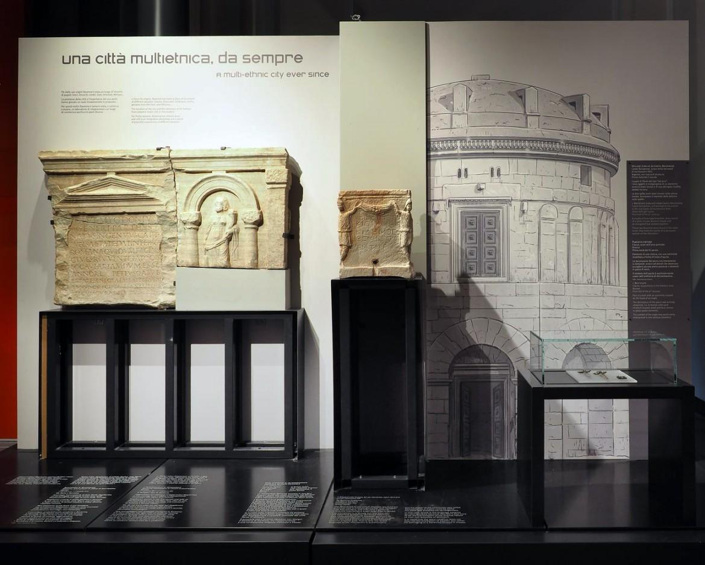 Sezione espositiva di «Classis», foto di Tommaso Raffoni, Fondazione RavennAntica