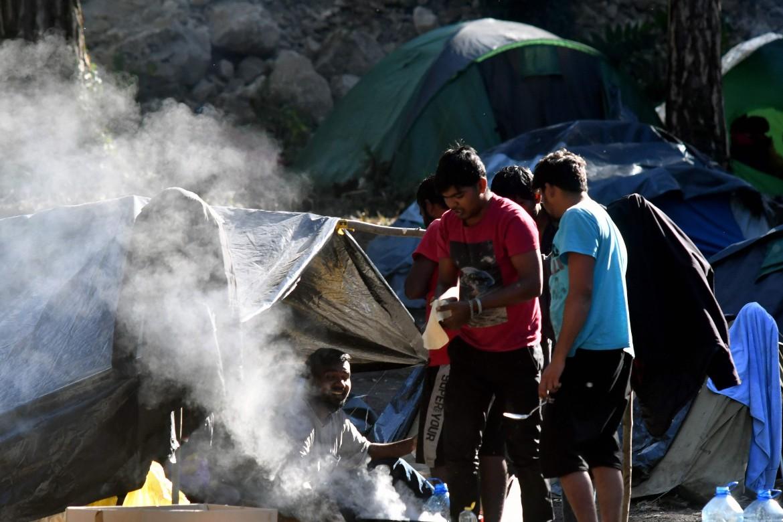 Nel Bira Refugees Centre di Bihac, nel nord-ovest della Bosnia