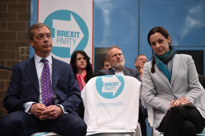 Nigel Farage e Annunziata Rees-Mogg al lancio del Brexit Party