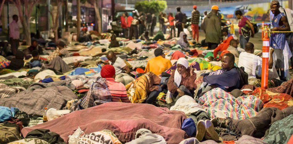 Profughi haitiani a Tijuana