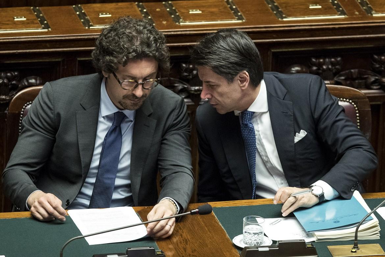 Danilo Toninelli e Giuseppe Conte